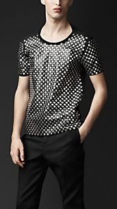 Studded Cotton Jersey T-shirt