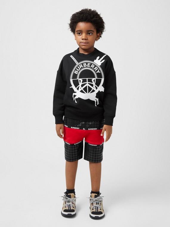 Sweatshirt aus Baumwolle mit Grafikdruck (Schwarz)