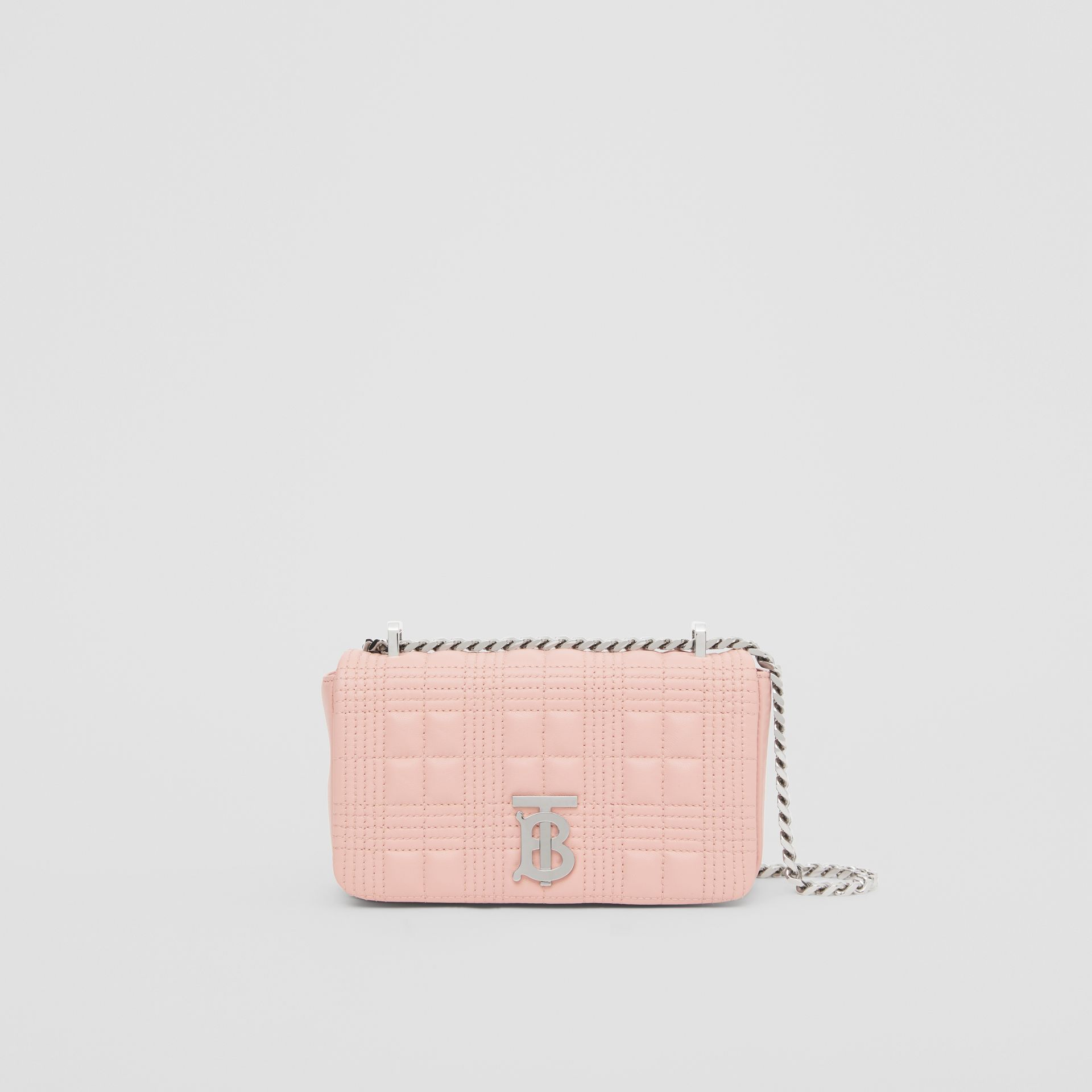 Mini Quilted Lambskin Lola Bag in Blush Pink - Women | Burberry - gallery image 0