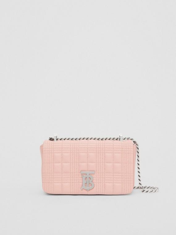 Стеганая сумка Lola из кожи ягненка, миниатюрный размер (Нежно-розовый)