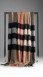 Check Cashmere Blanket
