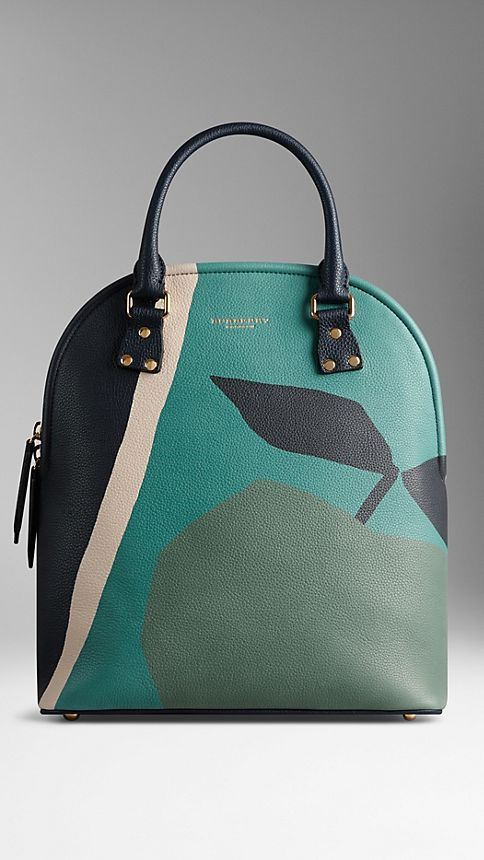 Storm grey The Medium Bloomsbury in The Orchard Print Leather - Image 2