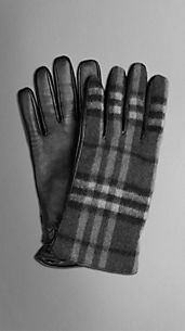 Check Wool Gloves