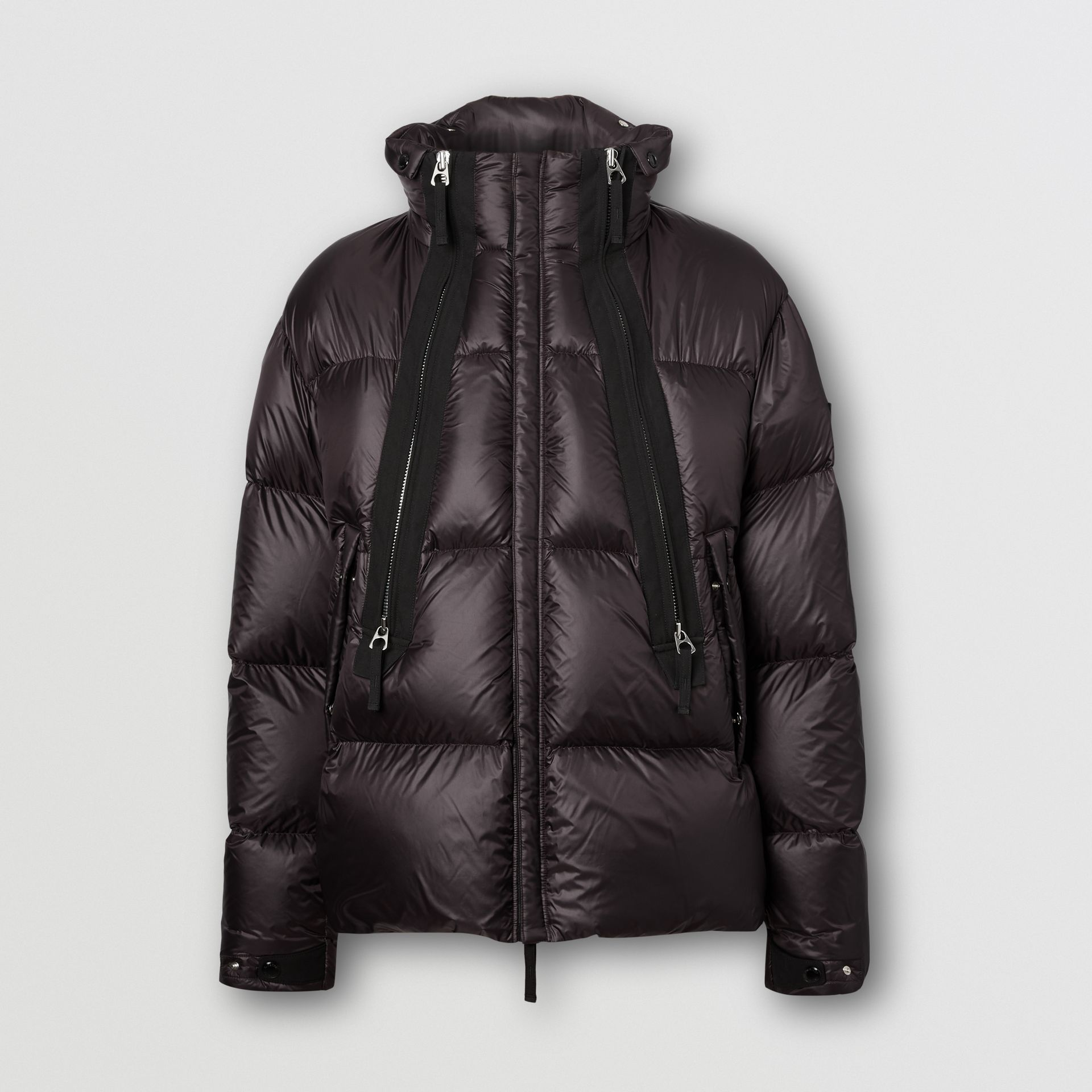 Packaway Hood Zip Detail Puffer Jacket in Deep Brown - Men | Burberry - gallery image 3