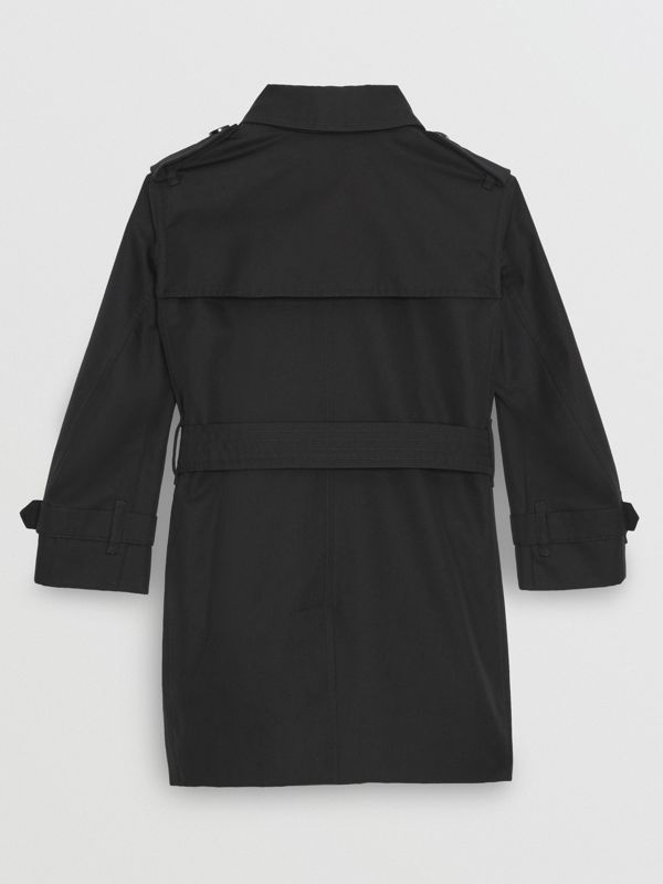 Cotton Gabardine Trench Coat in Black | Burberry Singapore - cell image 2