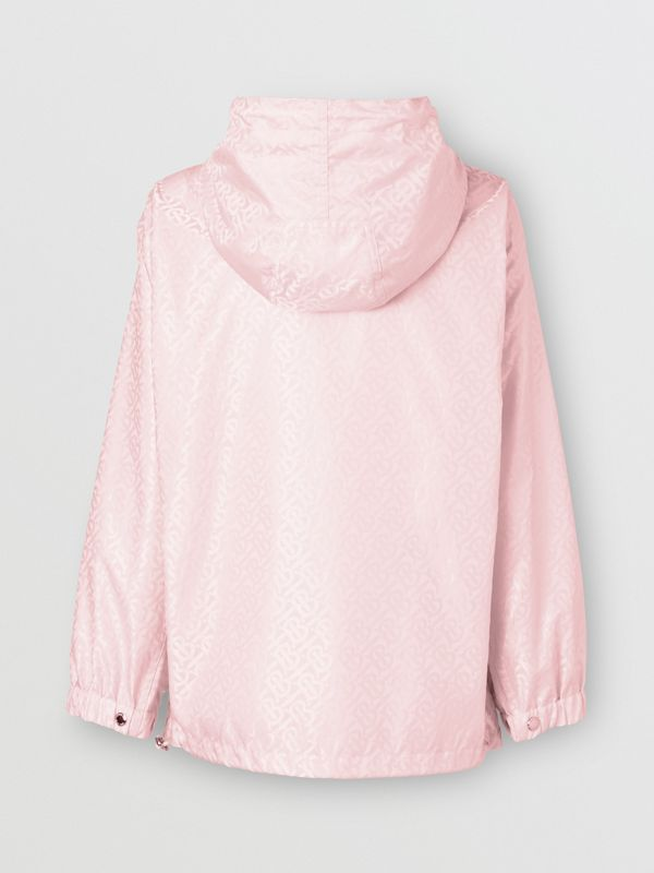 Monogram ECONYL® Jacquard Hooded Jacket in Cloud Pink - Women | Burberry - cell image 2