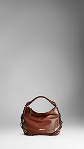 Small Bridle Leather Hobo Bag