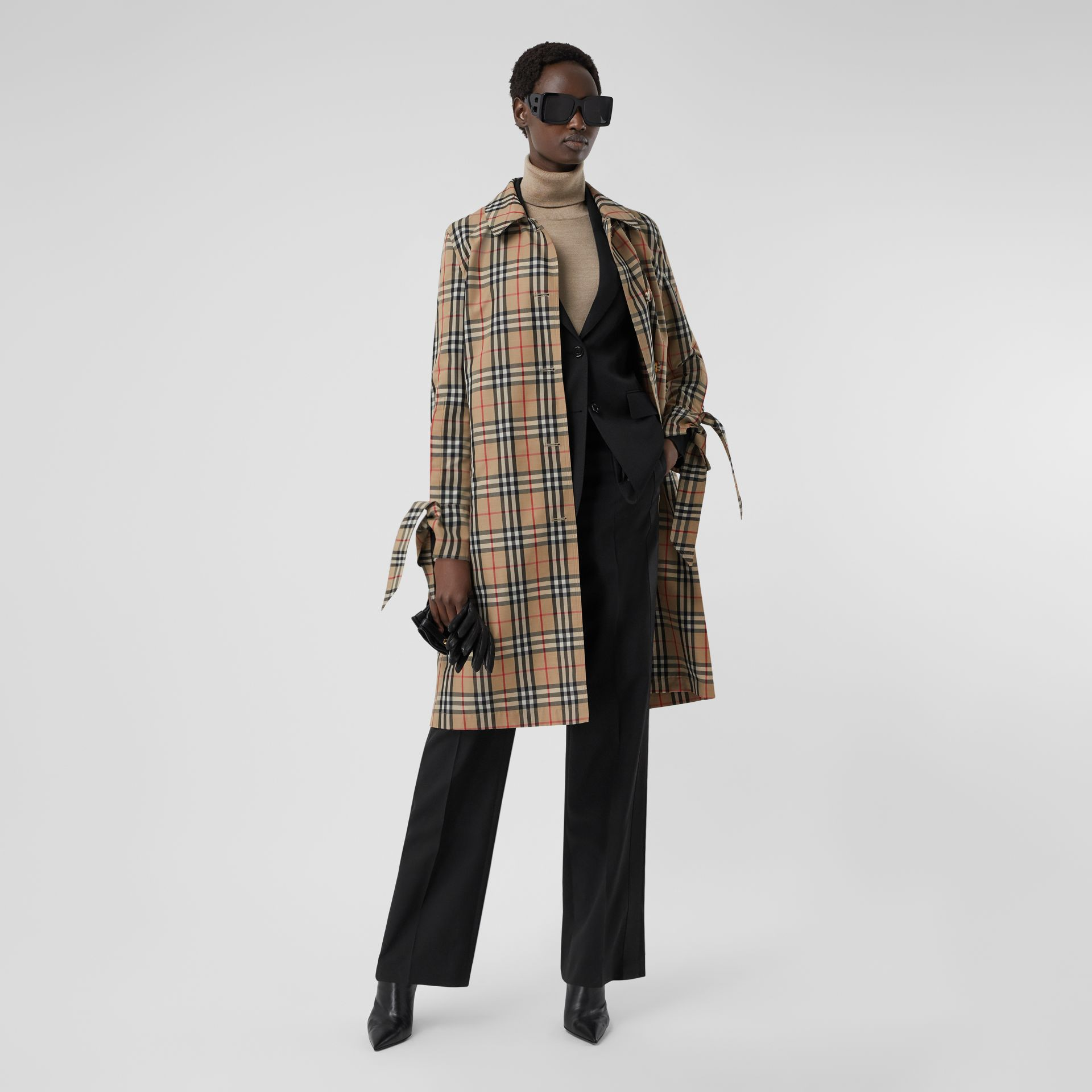 Vintage Check Recycled Polyester Car Coat - Women | Burberry Singapore - gallery image 6