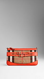 Bridle House Check Clutch Bag