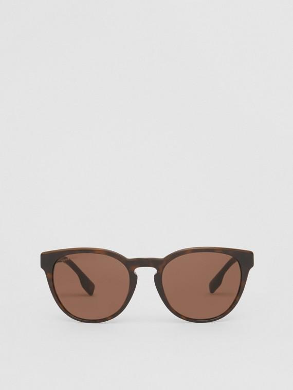 Óculos de sol com armação redonda (Casco  Tartaruga)