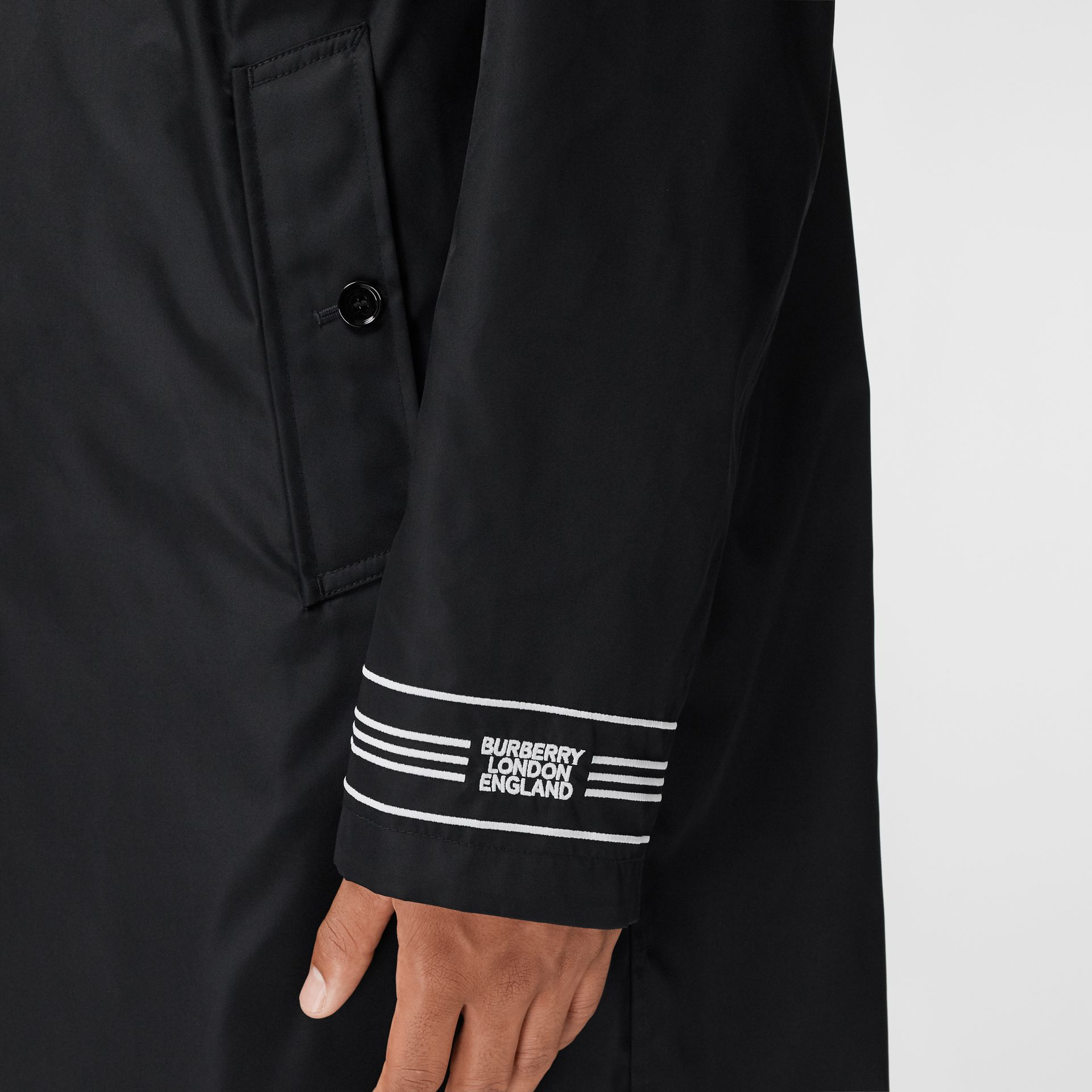 Reversible Logo Embroidered ECONYL® Car Coat - Men | Burberry - gallery image 4