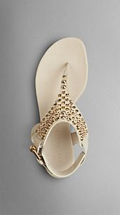 Embellished Nubuck Sandals