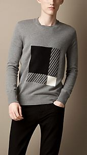 Check Knit Sweater