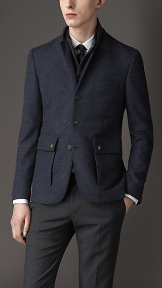 Cashmere Blazer With Detachable Warmer