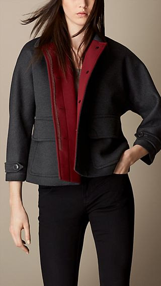 Sculptural Double Jersey Jacket