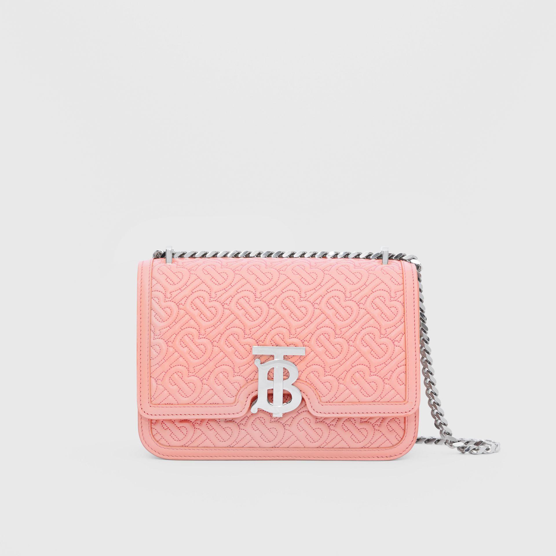Small Quilted Monogram Lambskin TB Bag in Blush Pink - Women | Burberry - gallery image 0