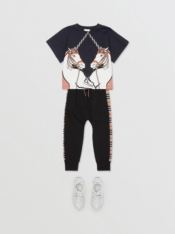 Camiseta en algodón con estampado de unicornios (Tinta)