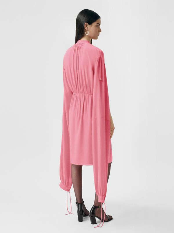 Loop-back Sleeve Silk Crepe De Chine Dress | Burberry United Kingdom - cell image 2