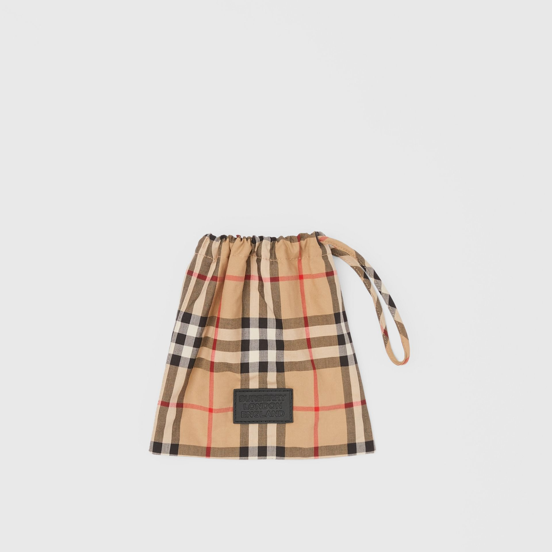 Vintage Check Cotton Face Mask in Archive Beige - Women | Burberry - gallery image 4