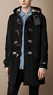 DUFFLE COAT EN LAINE DOUBLE FACE