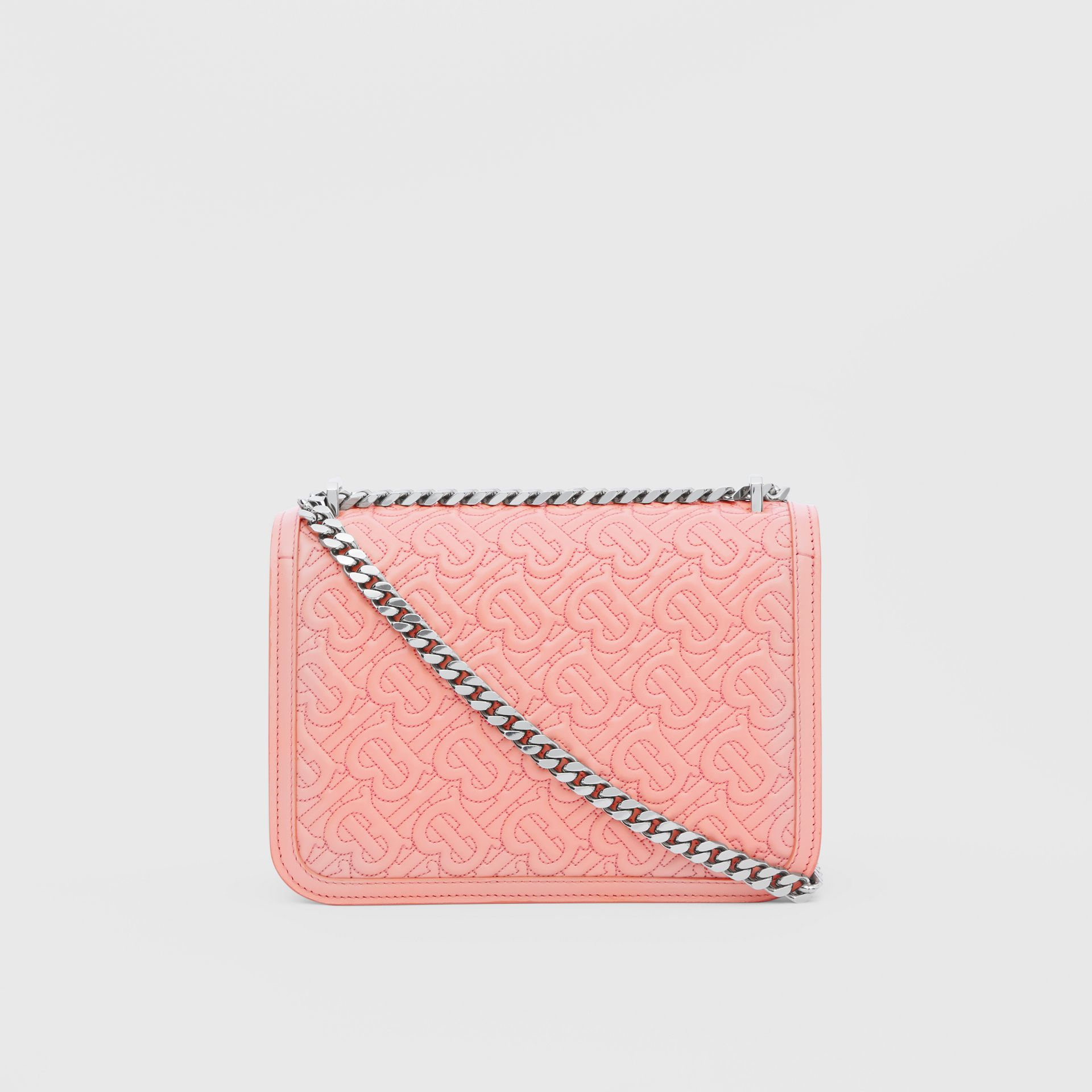 Small Quilted Monogram Lambskin TB Bag in Blush Pink - Women | Burberry - gallery image 7