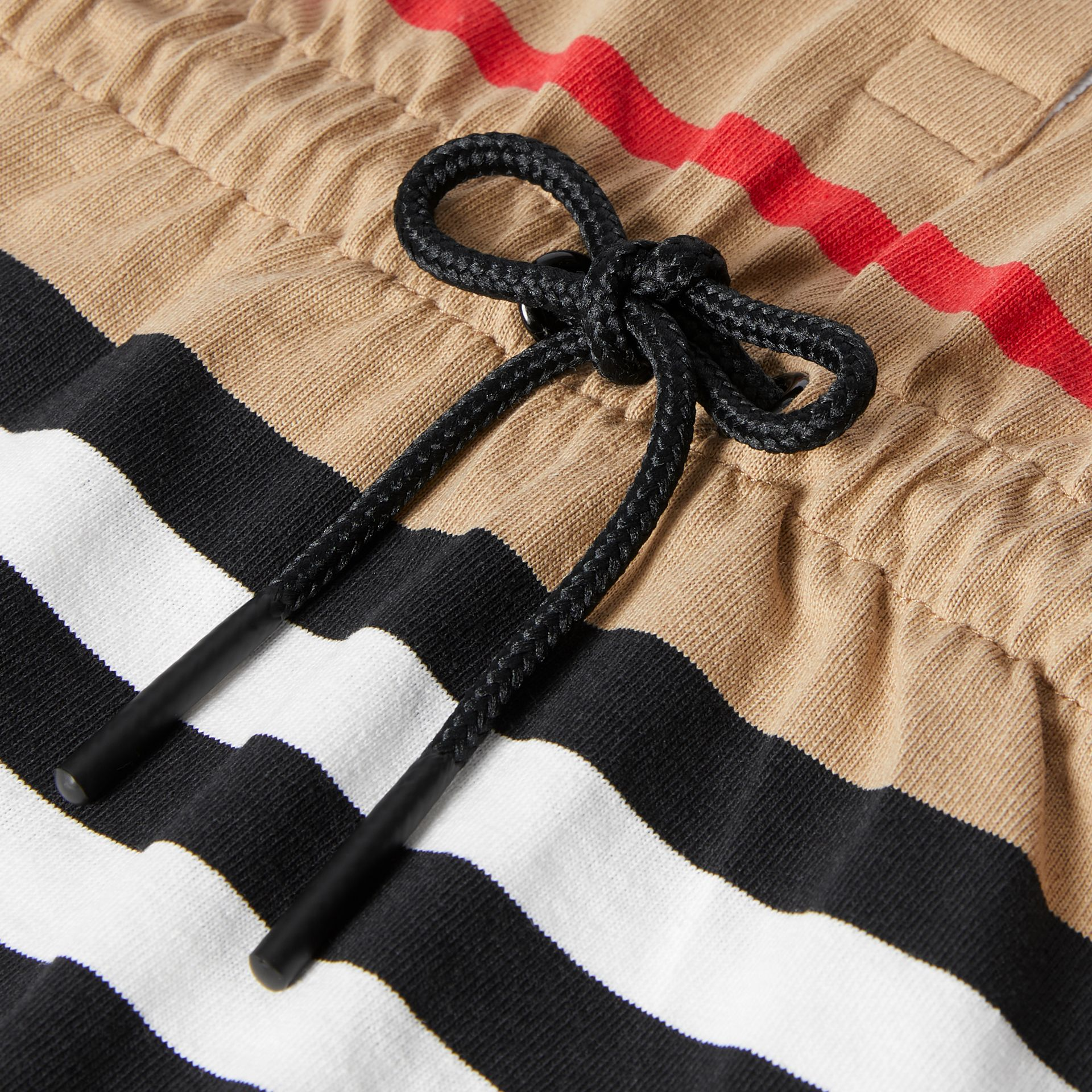 Long-sleeve Icon Stripe Cotton Dress in Archive Beige - Children   Burberry United Kingdom - gallery image 1