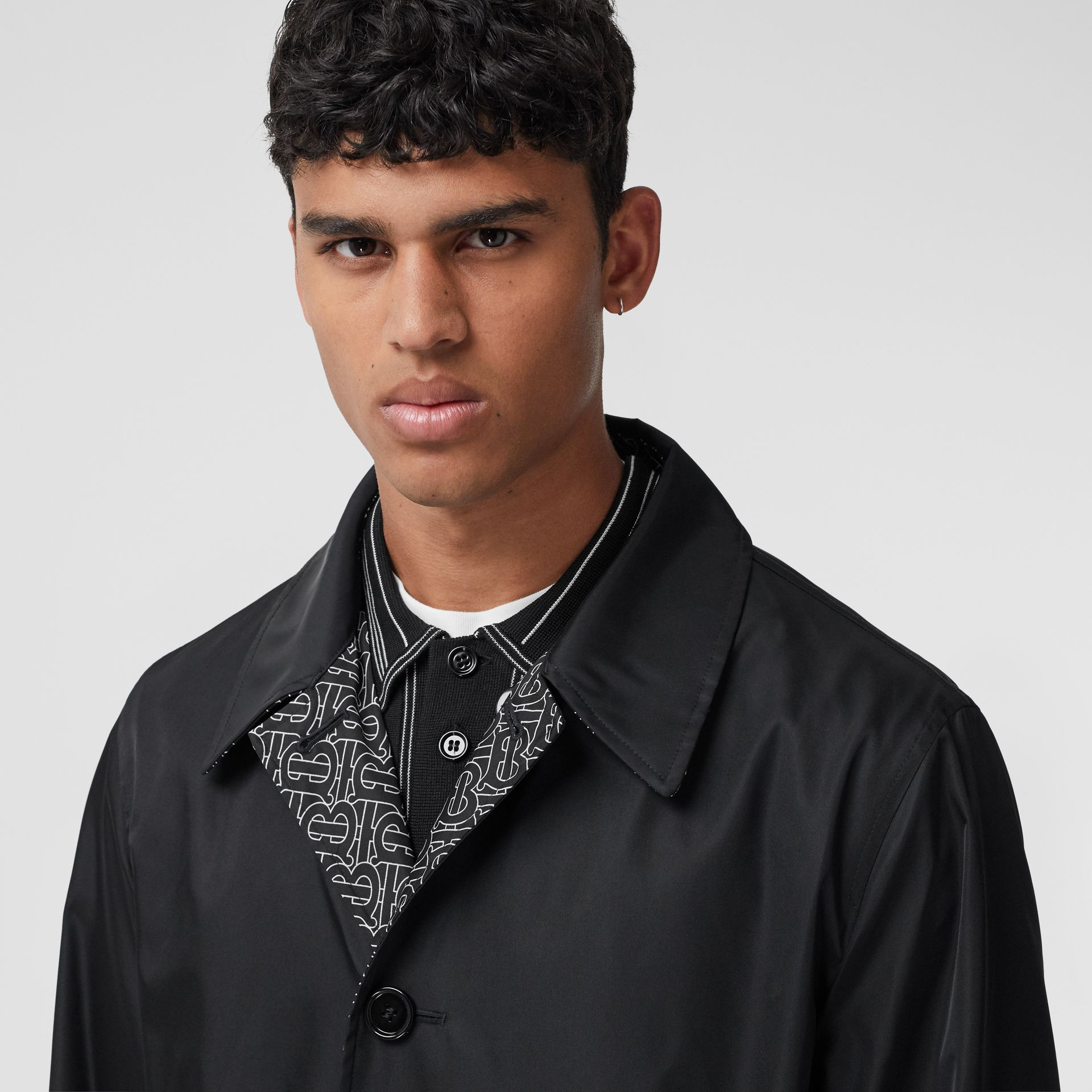 Reversible Logo Embroidered ECONYL® Car Coat - Men | Burberry United States - gallery image 9