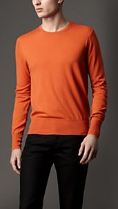 Check Detail Merino Wool Sweater