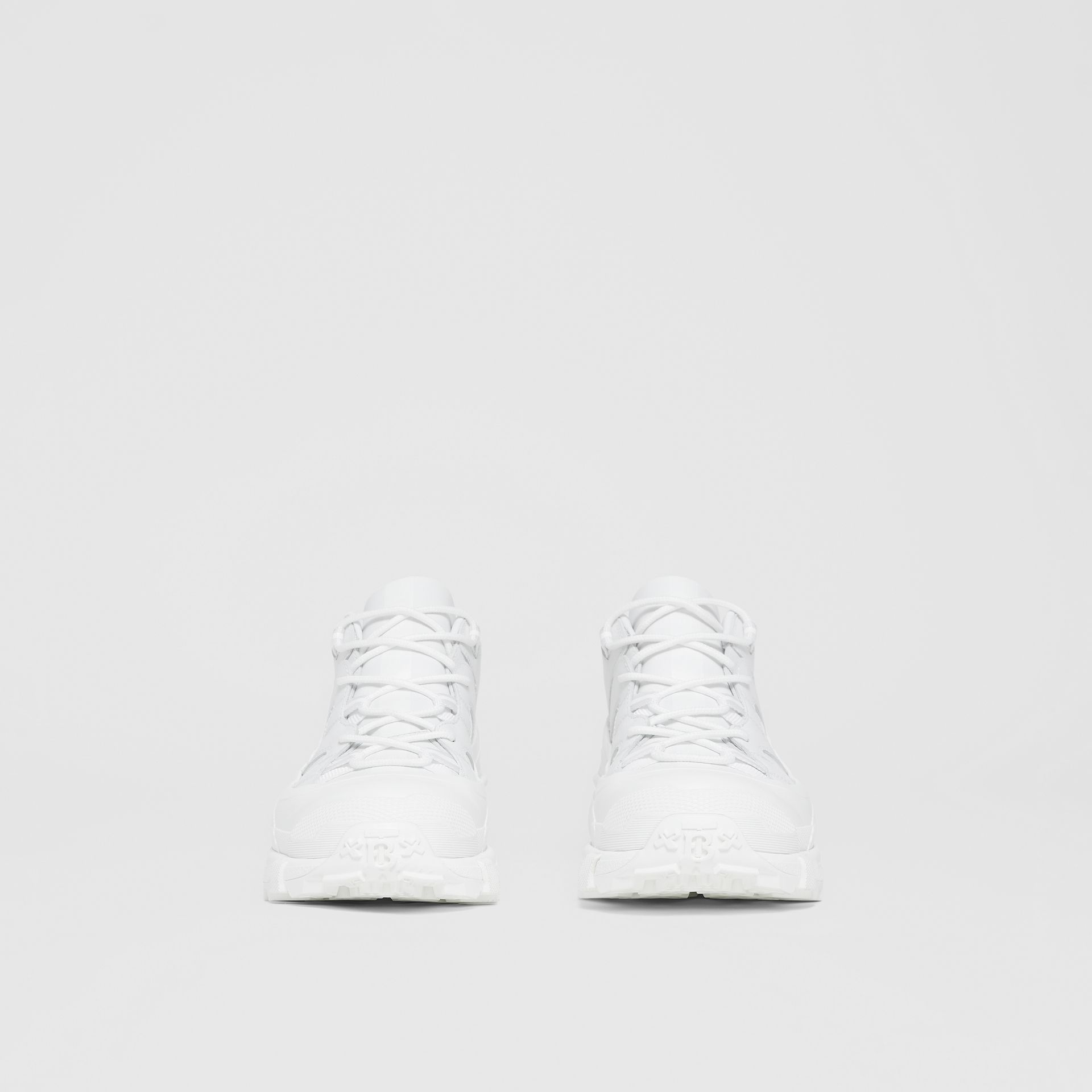 Leather Arthur Sneakers in White - Women | Burberry - gallery image 3