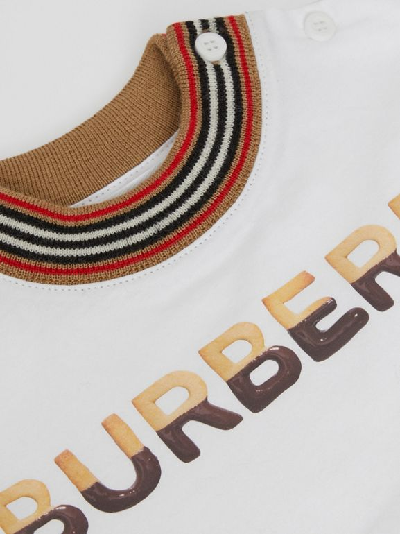 Confectionery Logo Print Cotton T-shirt in White - Children | Burberry - cell image 1