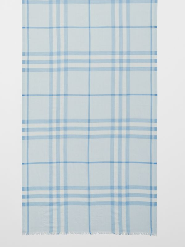Lightweight Check Wool Silk Scarf   Burberry United Kingdom - cell image 2