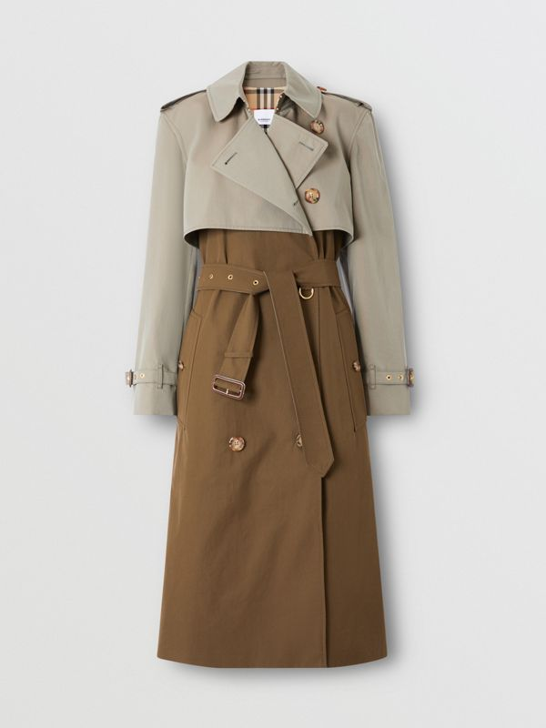 Trench coat bicolore ricostruito - Donna | Burberry - cell image 3