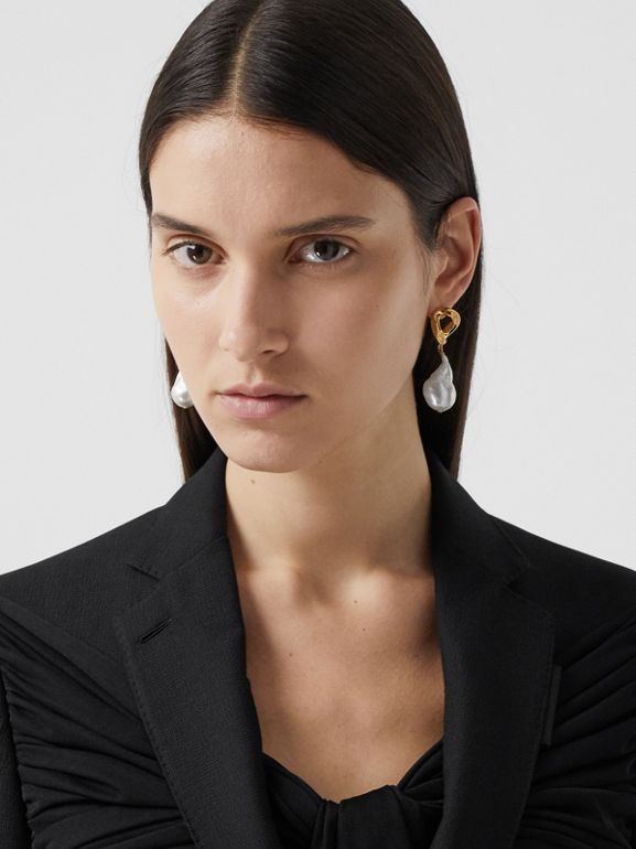 Jersey Sash Detail Wool Tailored Jacket in Black - Women | Burberry - cell image 1
