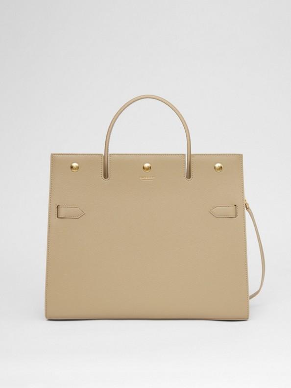 Medium Leather Title Bag in Honey