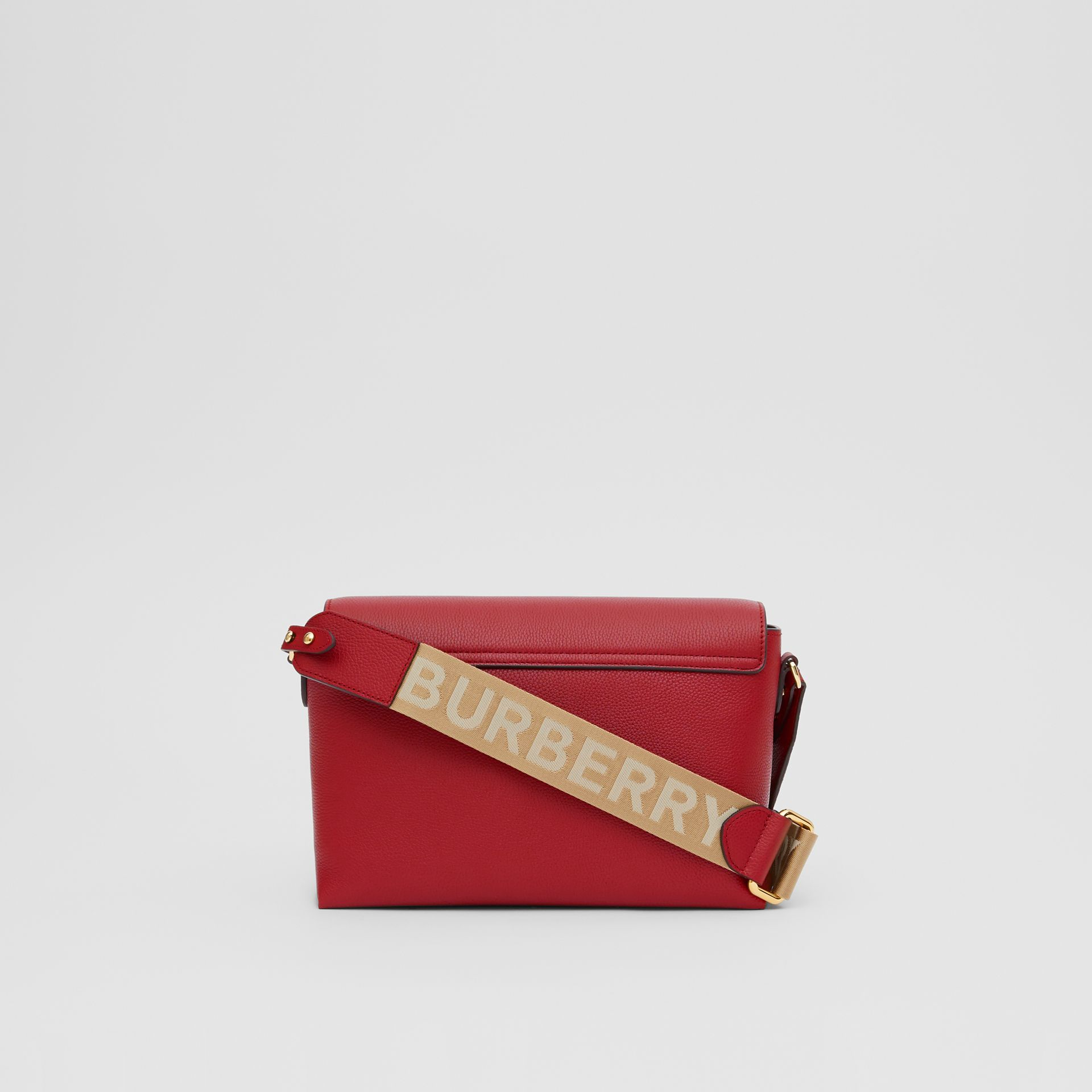 Leather and Vintage Check Note Crossbody Bag in Dark Carmine - Women | Burberry United States - gallery image 7