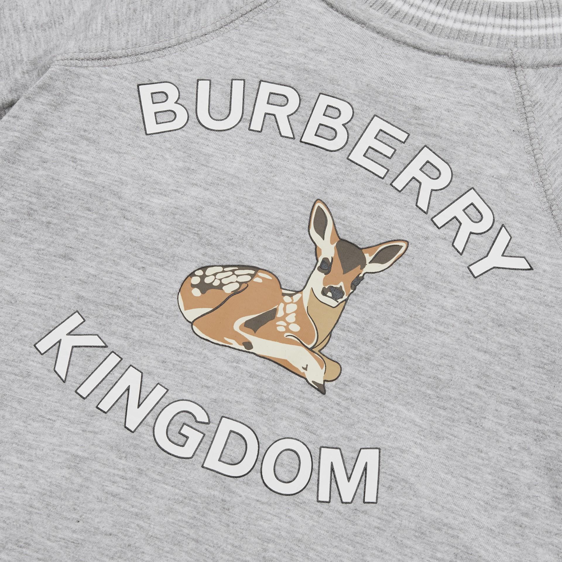 Logo and Deer Motif Cotton Jumpsuit - Children | Burberry United Kingdom - gallery image 1