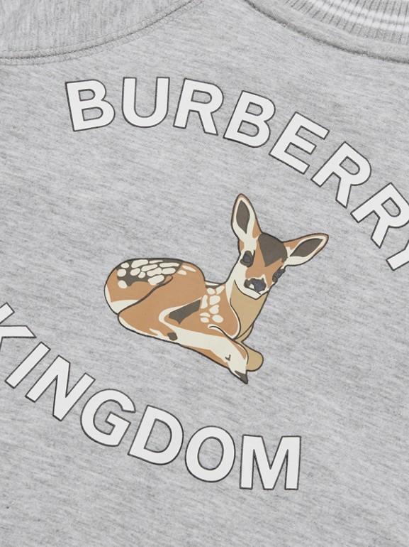 Logo and Deer Motif Cotton Jumpsuit - Children | Burberry United Kingdom - cell image 1
