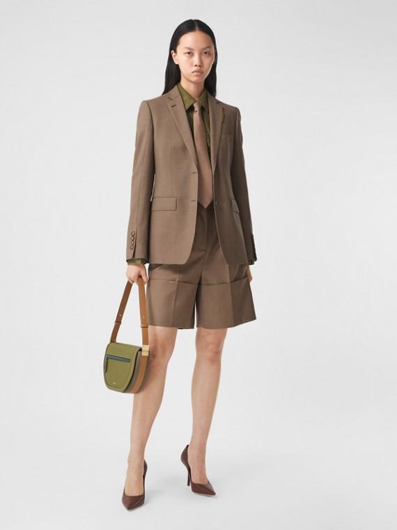 Элегантные шерстяные шорты (Насыщенный Серо-коричневый)