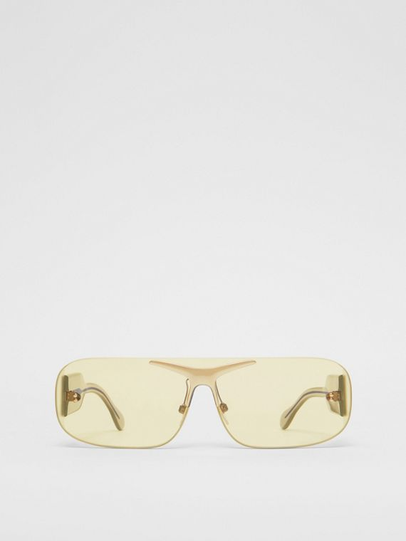 Blake Shield Sunglasses in Nude Gold
