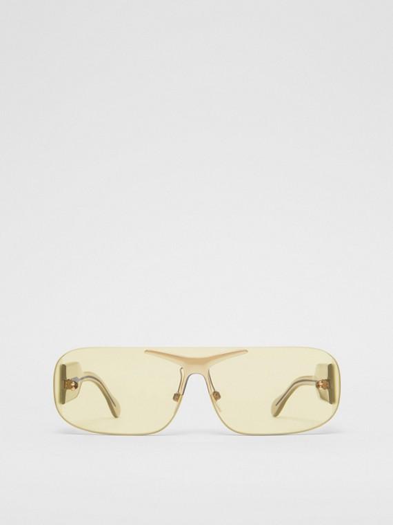 Óculos de sol Blake com armação quadrada (Nude Dourado)