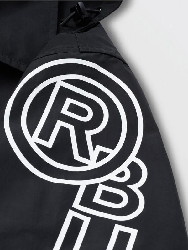 Detachable Hood Logo Print Technical Cotton Car Coat in Black - Men | Burberry United States - cell image 3