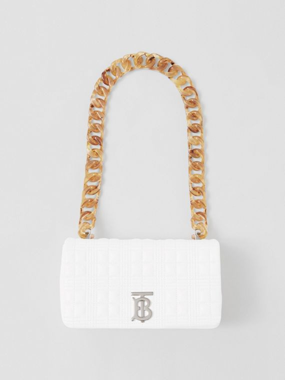 Small Quilted Lambskin Lola Bag in Optic White