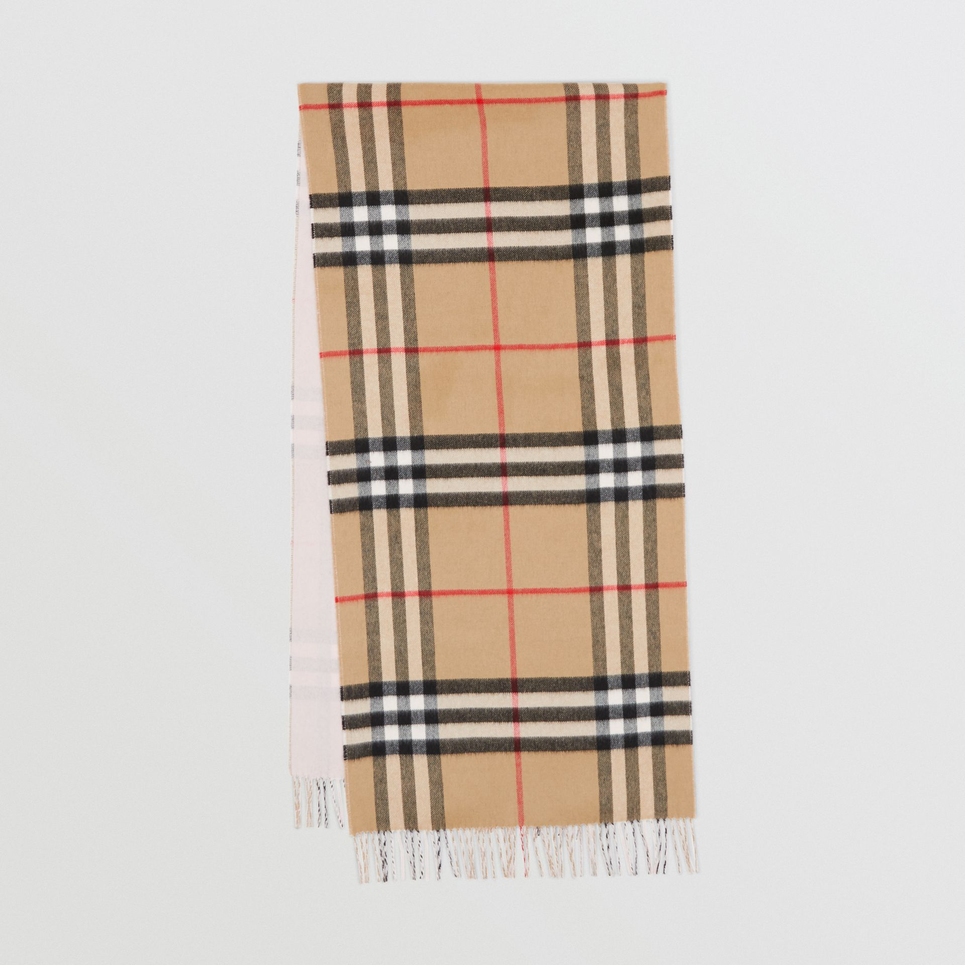 Reversible Check Cashmere Scarf in Frosted Pink | Burberry Canada - gallery image 0