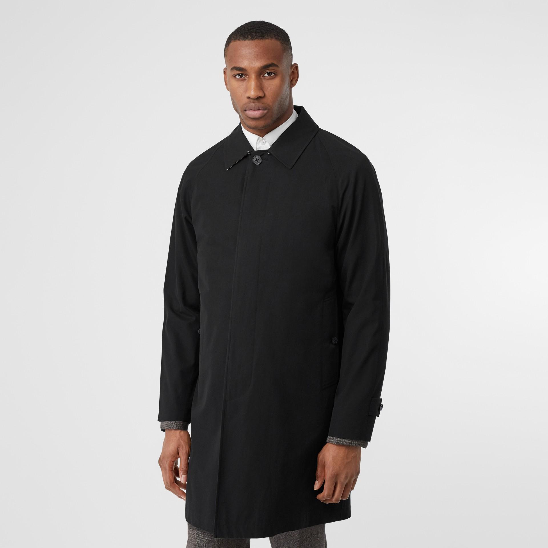 Car Coat Camden (Preto) - Homens | Burberry - galeria de imagens 0