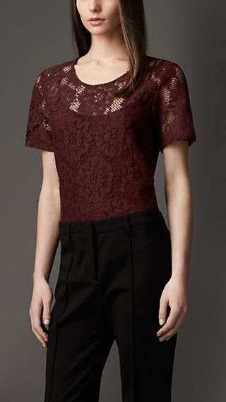 English Floral Lace Top