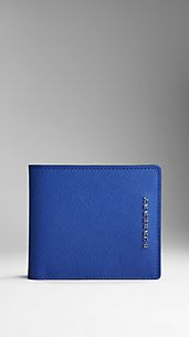 Colour-Finish London Leather Folding Wallet