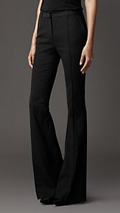 Slim Fit Bootcut Trousers