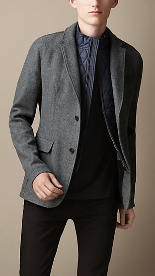 Detachable Quilted Bib Blazer
