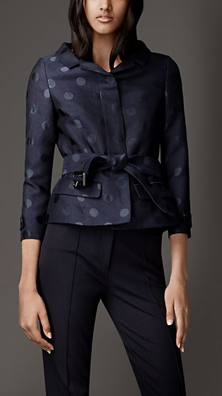 Polka Dot Peplum Jacket
