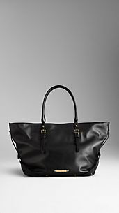 Medium Nappa Leather Tote Bag